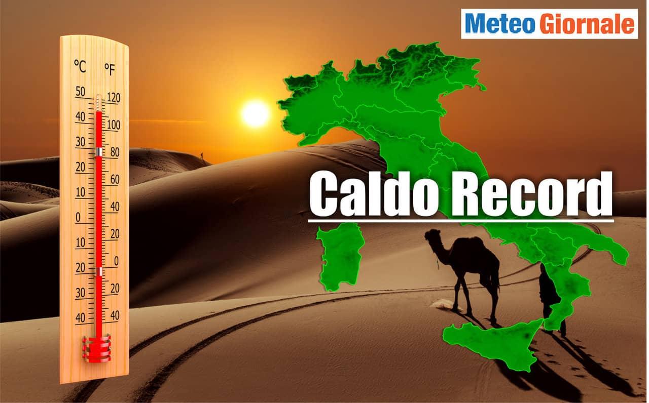 meteo con caldo record in italia - Meteo con ONDATA di CALORE asfissiante. Temperature record sino a 46 gradi
