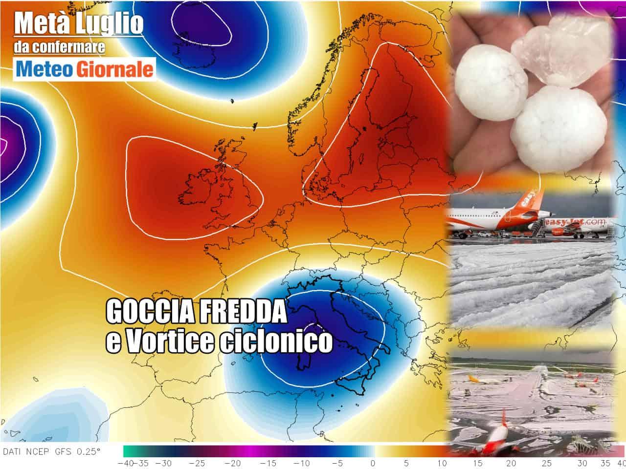 meteo con escalation temporali - Gran TRAMBUSTO meteo. Svolta per Vortice Freddo. Di nuovo Grandine