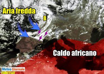 meteo con evoluzione temporali e grandine