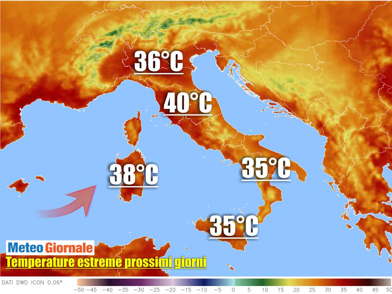 meteo con ondata di caldo in italia - Meteo: nuova forte Ondata di Caldo che inizierà dal Nord Italia
