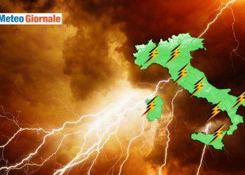 meteo con potenti temporali agosto