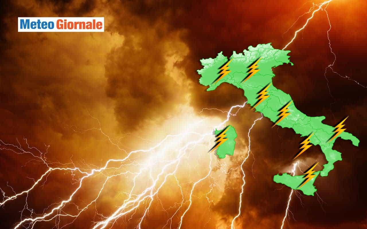meteo con potenti temporali agosto - Ecco i potenti TEMPORALI del meteo di Agosto