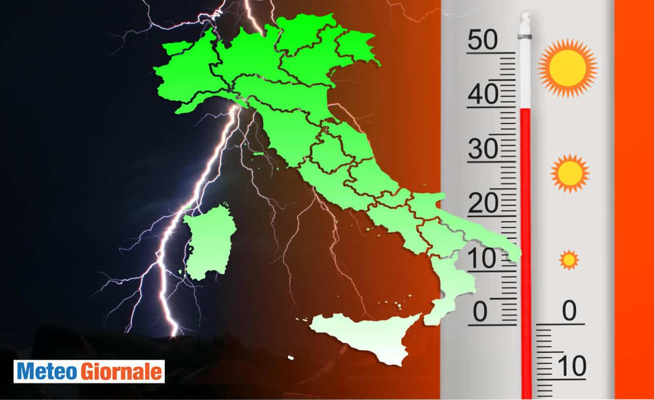 meteo italia caldo e grandine - Temperature oltre i 40°C. Meteo che è divenuto normale. Caldo estremo tornerà subito cattivissimo