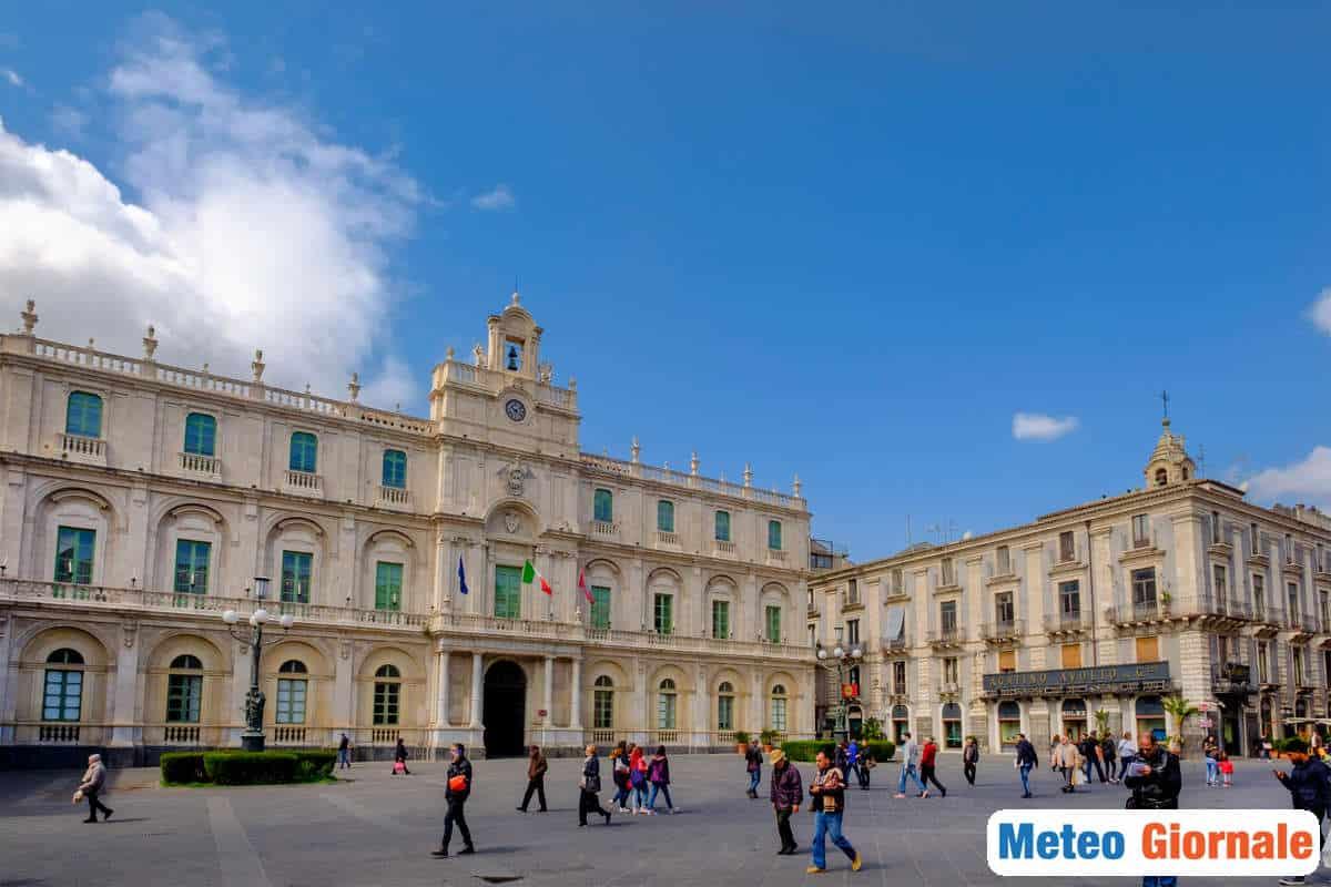 meteo locale 00282 - Previsione meteo per Catania: arriva un'ondata di calore asfissiante