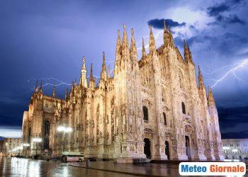 Temporali a Milano.