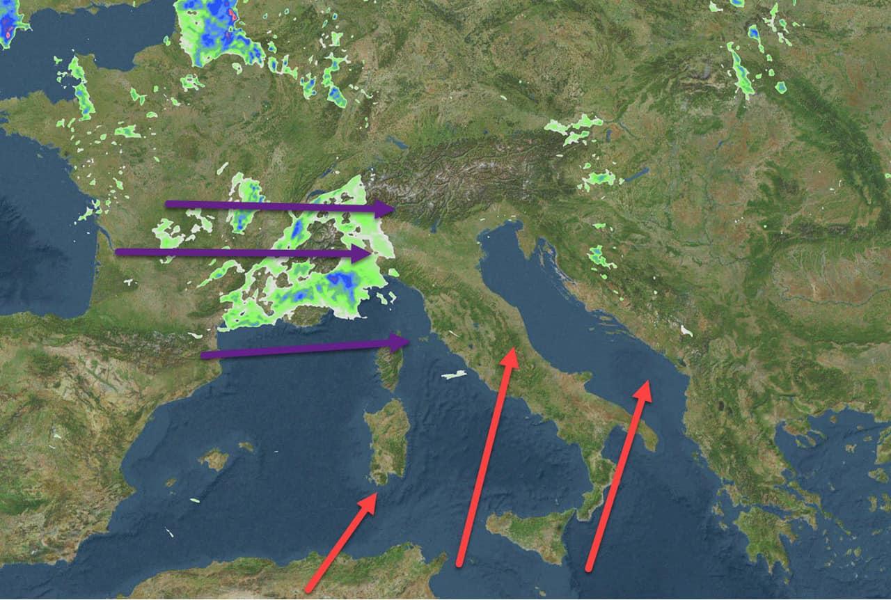 meteo ripreso dai radar - Meteo prossime ore, oggi temporali di forte intensità al Nord Italia