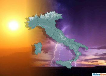 Caldo africano e temporali torneranno a contendersi l'Italia