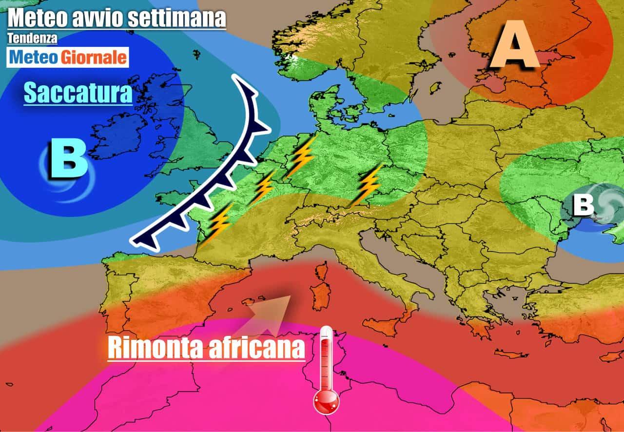 meteogiornale previsioni 7 giorni 1 - METEO ITALIA. Ecco i TEMPORALI al Nord, ma presto tornerà il SUPER CALDO