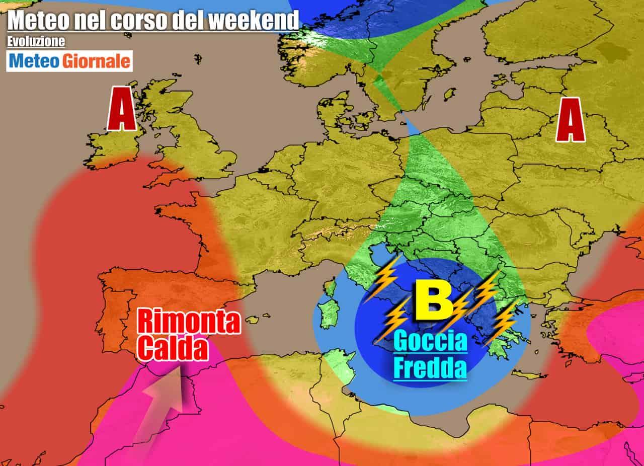 meteogiornale previsioni 7 giorni 14 - METEO 7 Giorni. Estate arranca. VORTICE FREDDO e carico di TEMPORALI verso il Sud
