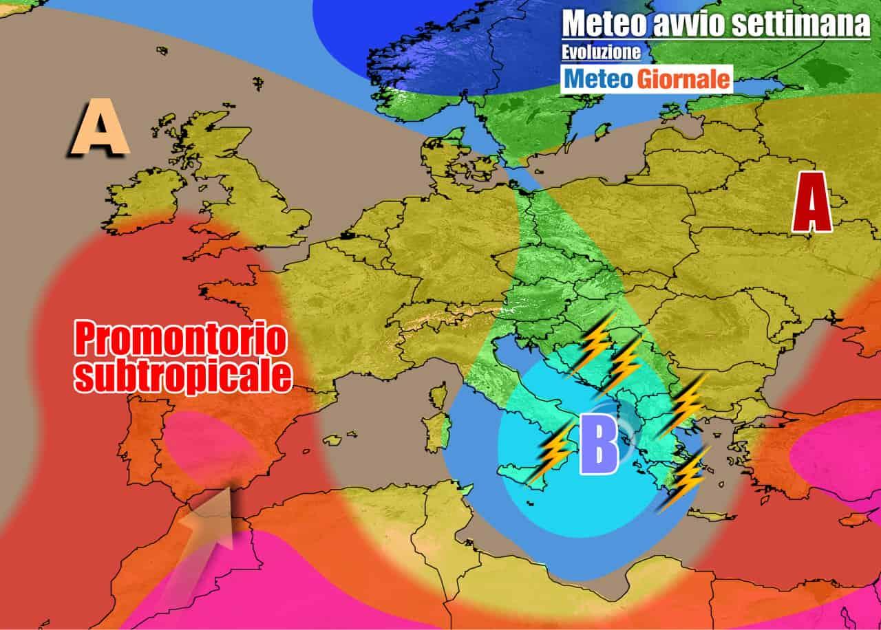 meteogiornale previsioni 7 giorni 15 - METEO 7 Giorni. Inezia un WEEKEND con pioggia e temporali, poi l'ESTATE ci riprova
