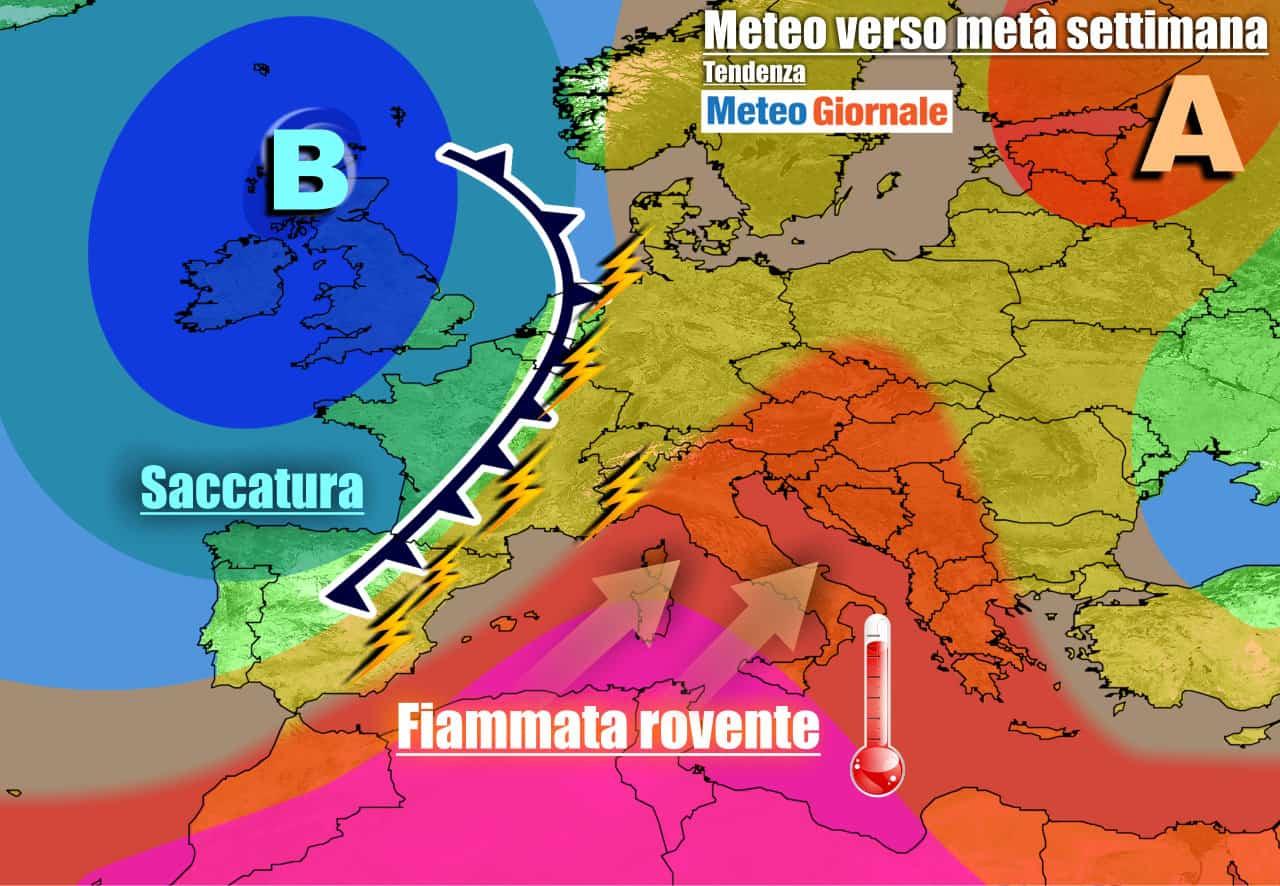 meteogiornale previsioni 7 giorni 2 - METEO ITALIA. Ritorna l'anticiclone con il CALDO AFRICANO a 40 GRADI