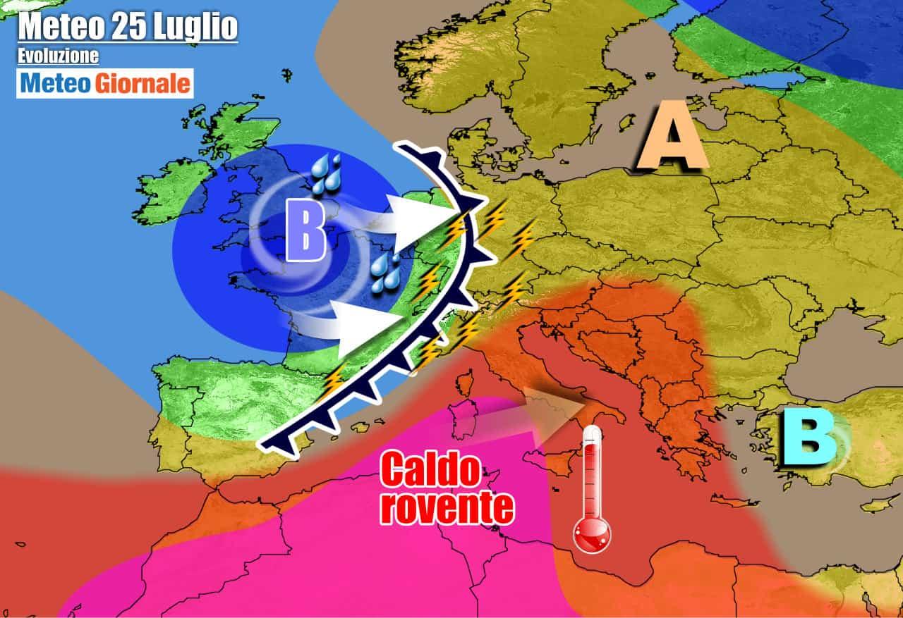 meteogiornale previsioni 7 giorni 21 - METEO 7 Giorni. SUPER CALDO ma primi VIOLENTI TEMPORALI puntano il Nord