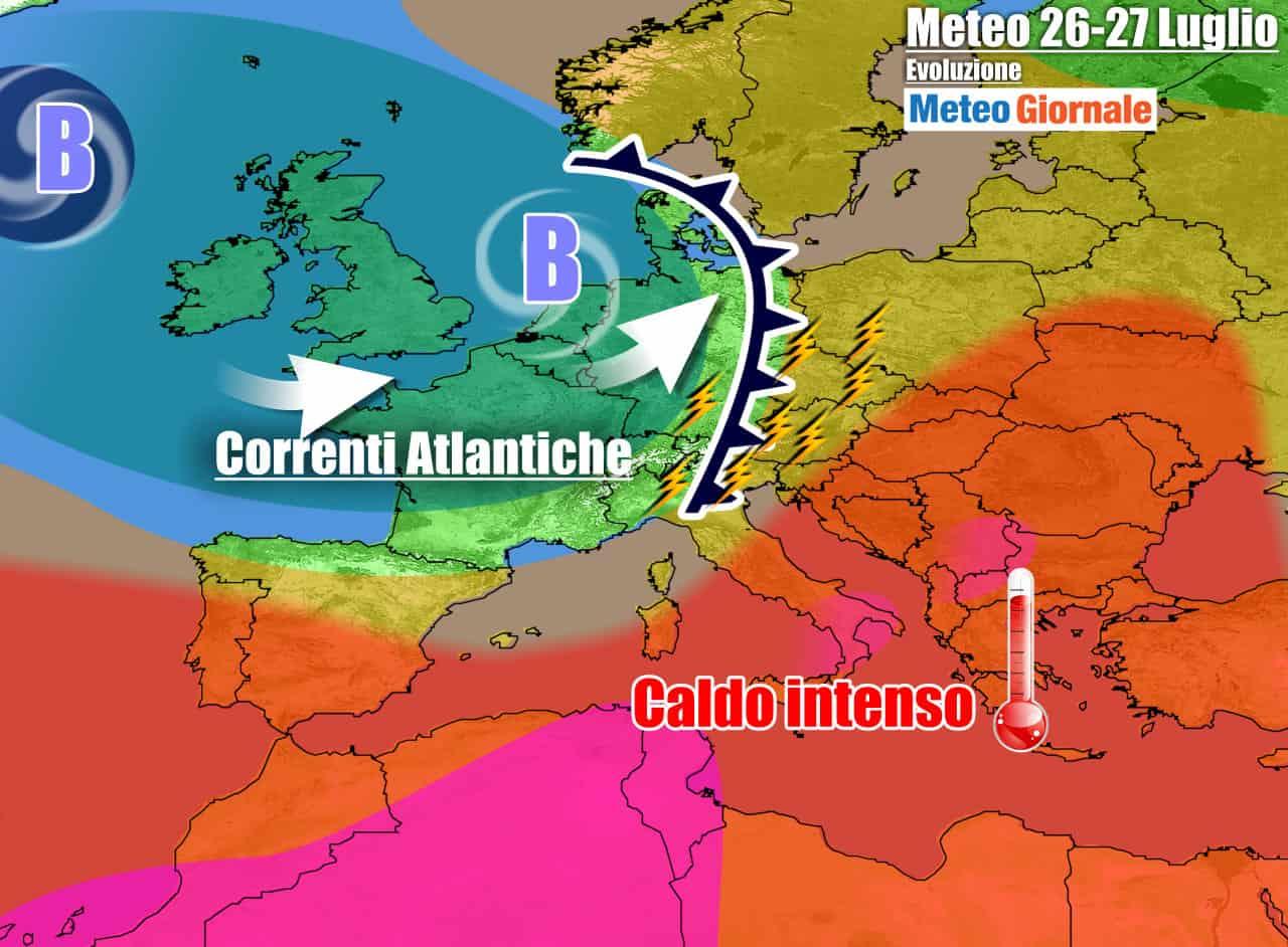 meteogiornale previsioni 7 giorni 23 - METEO 7 Giorni. Eccesso di CALDO a braccetto con forti TEMPORALI e GRANDINE
