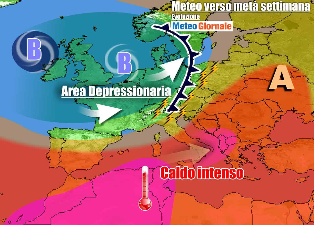 meteogiornale previsioni 7 giorni 24 - METEO 7 Giorni. Italia tra CANICOLA e FORTI TEMPORALI, fase di stallo