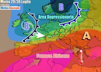 Grande caldo su buona parte d'Italia