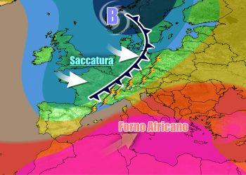 Italia di nuovo divisa in due nel weekend