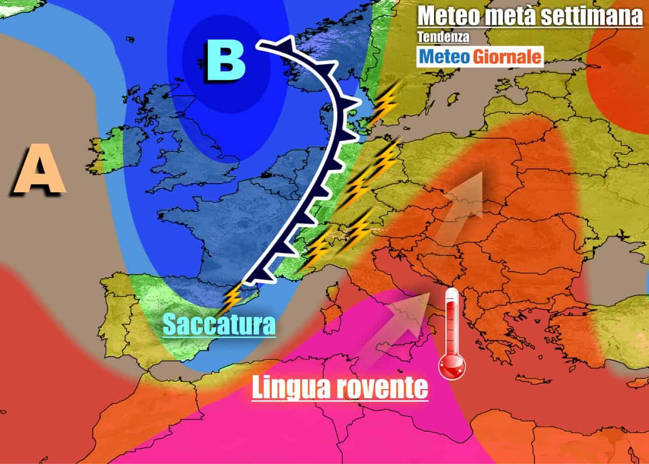 meteogiornale previsioni 7 giorni 3 - METEO ITALIA 7 Giorni. Riecco il CALDO AFRICANO, qualche TEMPORALE al Nord