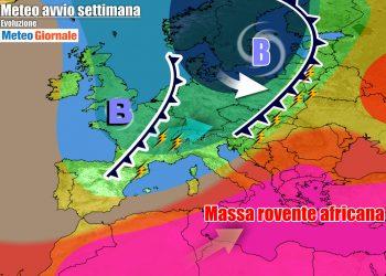 Prossima settimana ancora movimentata e con Italia divisa in due