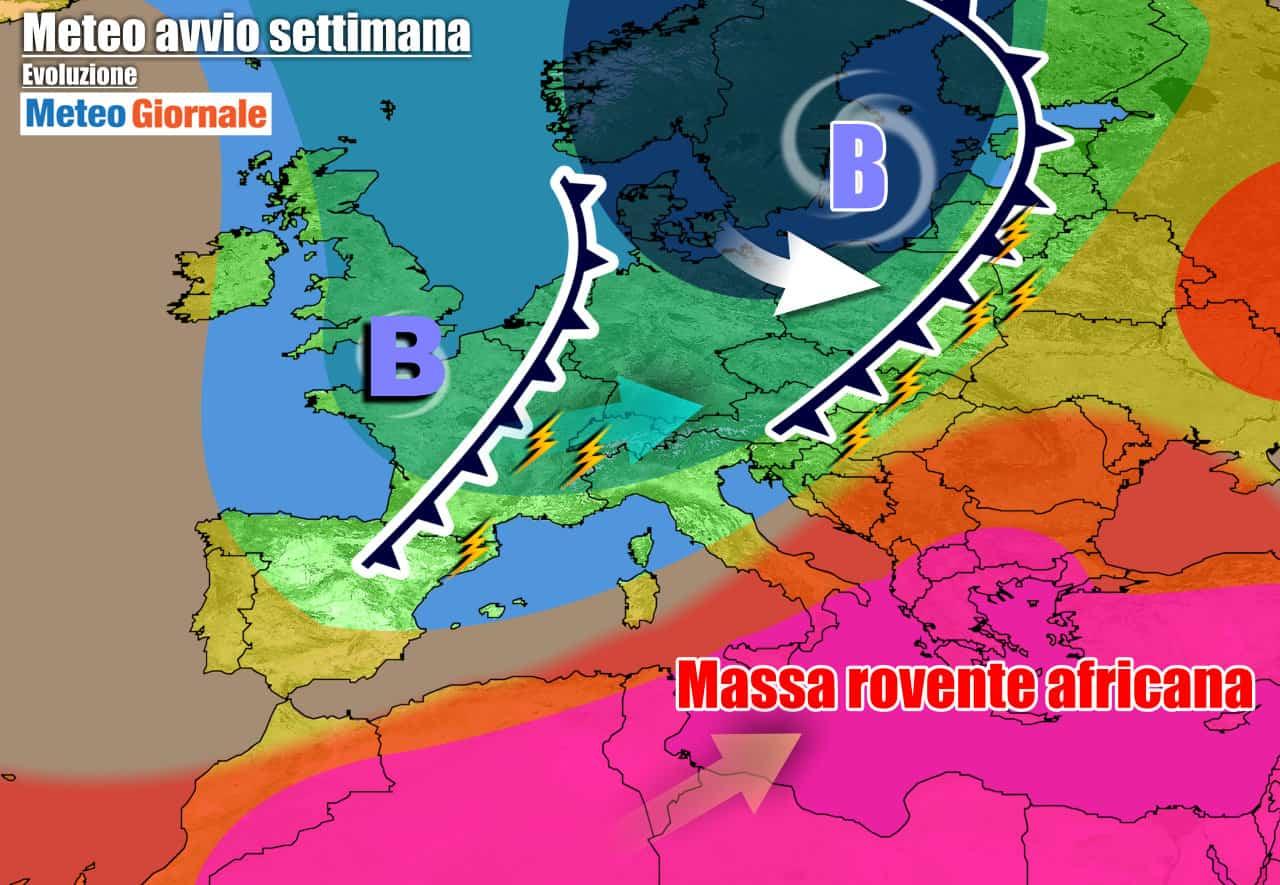 meteogiornale previsioni 7 giorni 30 - METEO 7 Giorni. Subito TEMPORALI al Nord, CALDO estremo al Sud