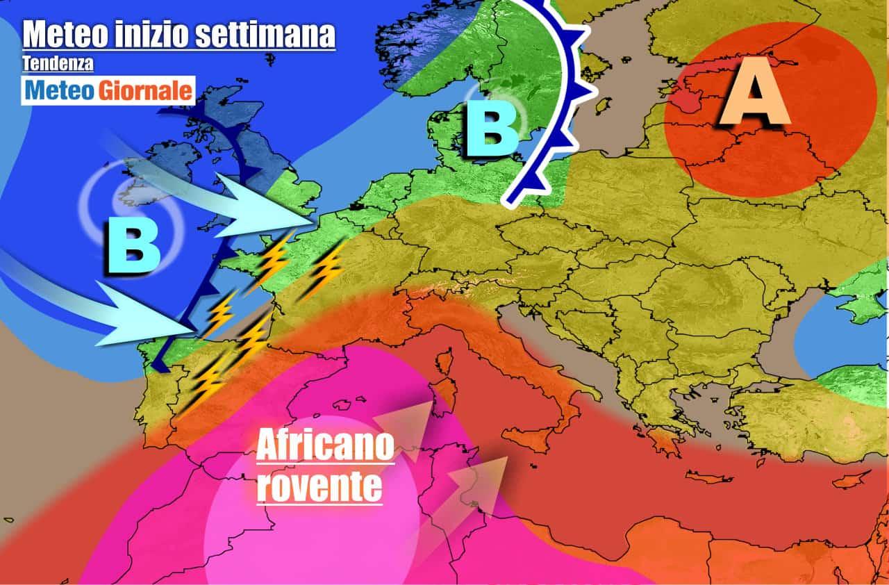 meteogiornale previsioni 7 giorni 7 - METEO 7 Giorni: di nuovo Temperature AFRICANE. Ma arriva Goccia Fredda