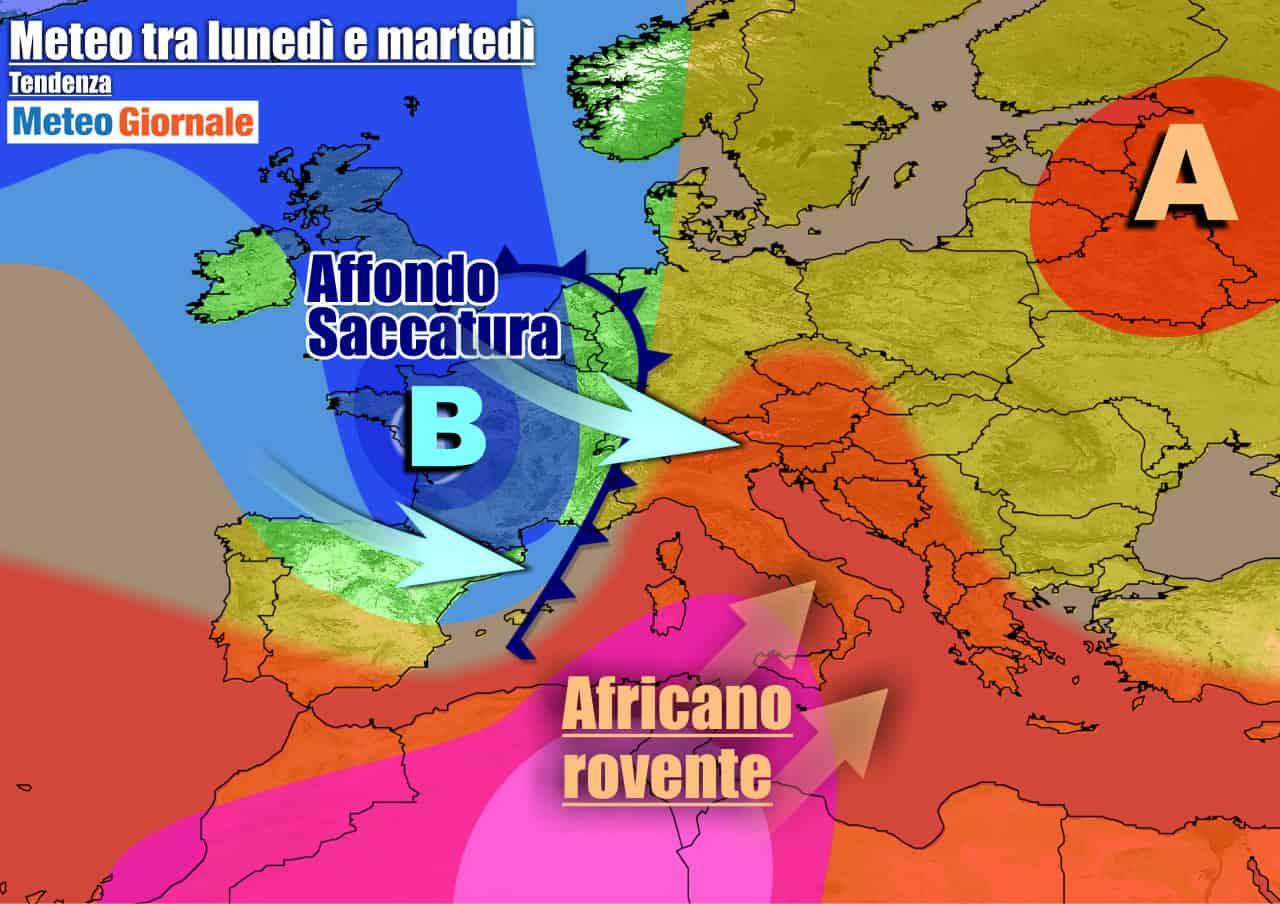 meteogiornale previsioni 7 giorni 8 - METEO ITALIA 7 Giorni. Torna ANTICICLONE AFRICANO, ma da martedì ESTATE KO