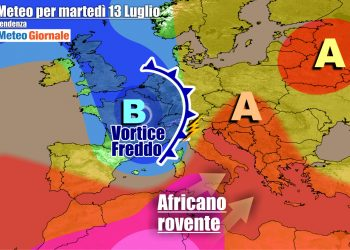 Maltempo in vista sull'Italia