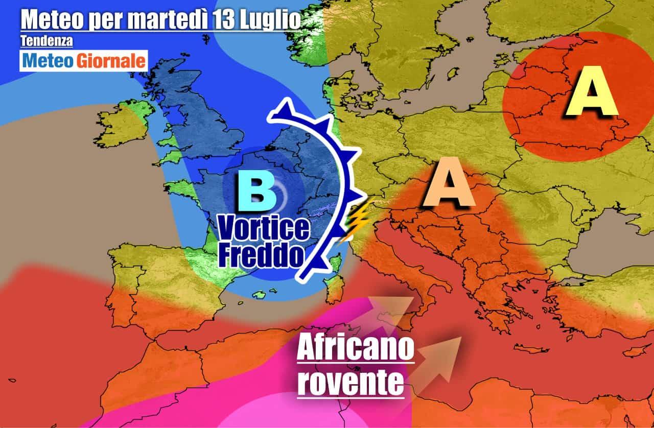 meteogiornale previsioni 7 giorni 9 - METEO ITALIA 7 Giorni. CRISI ESTATE in arrivo, a suon di FRESCO e TEMPORALI