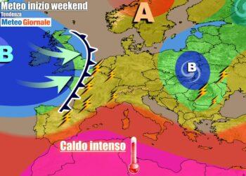 Weekend più temporalesco al Nord Italia
