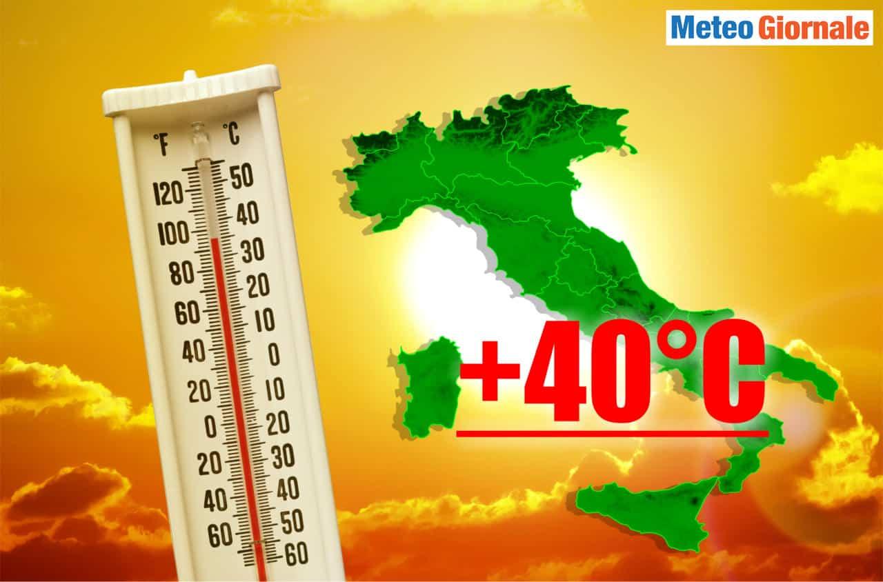 ondata di calore africano - Subito Meteo SUPER CALDO, le regioni più esposte ai 40 gradi. Temperature