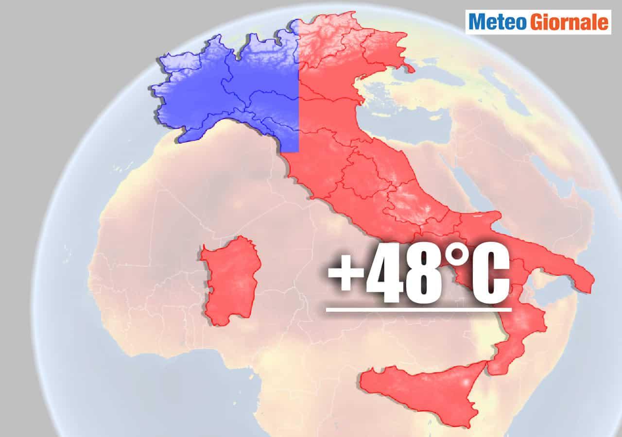 ondata di calore estrema in italia - Meteo con CALDO già PEGGIORE del PREVISTO. Temperature da RECORD