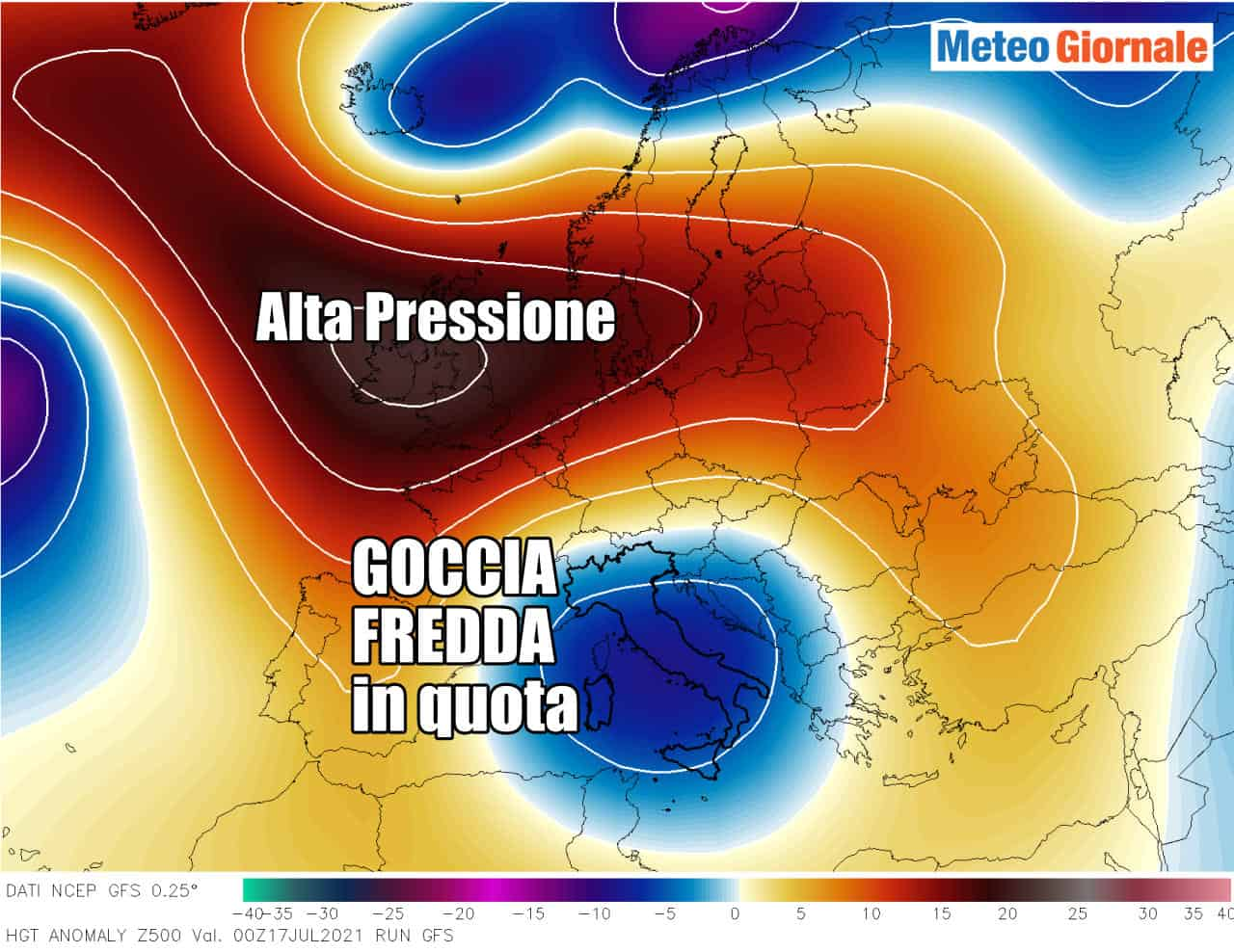 situazione meteo 2 - Allerta meteo Protezione Civile in numerose Regioni d'Italia