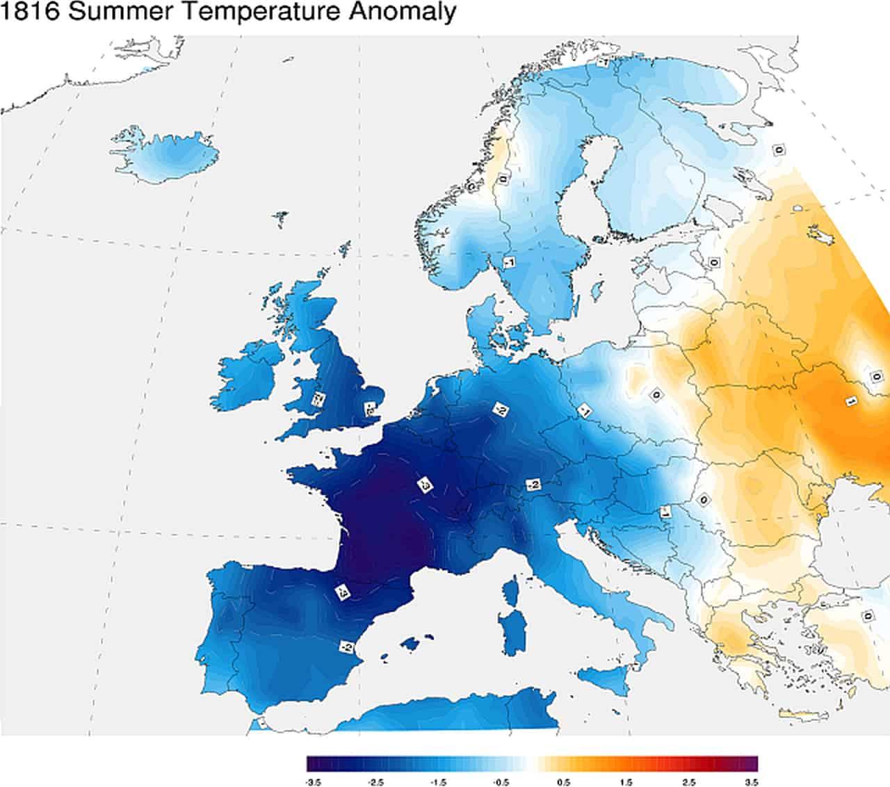 summer temperature anomaly europe - Ecco l'ANNO SENZA ESTATE, meteo incredibile in Europa e non solo