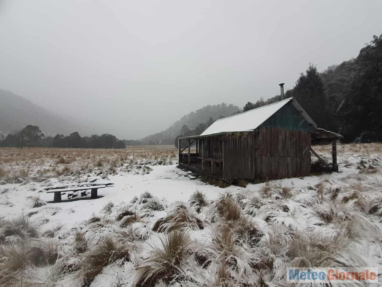 tasmania1 - Magia invernale australe. Meteo con neve fin quasi in pianura in Tasmania