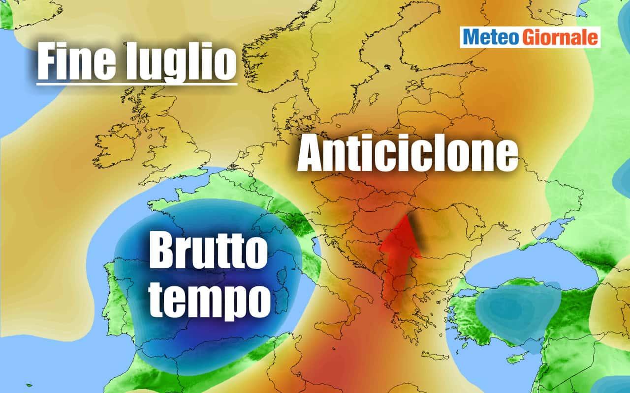 trend fine luglio - GOCCIA FREDDA di fine luglio? Ipotesi meteo da MALTEMPO