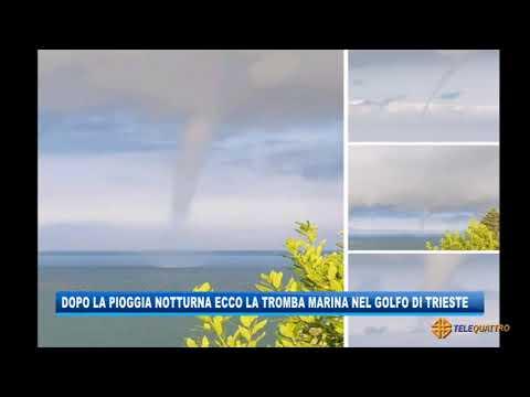 video meteo tromba marina a trie - Video Meteo: tromba marina a Trieste