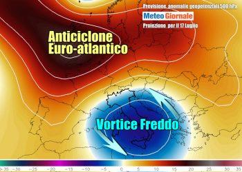 Situazione meteo anomala per luglio