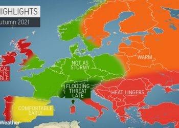 Autunno con pericolo alluvioni per parte d'Italia