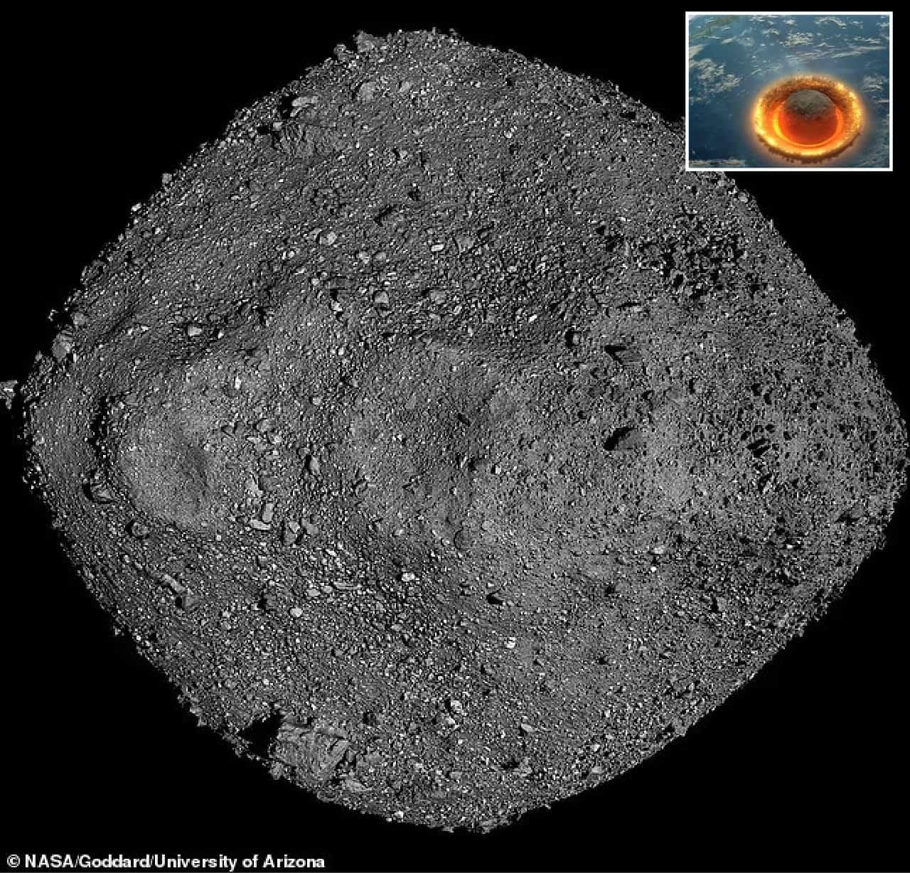 bennu immagine asteroide - Ultime dalla NASA sull'Asteroide Bennu, sono maggiori il rischio di impatto sulla Terra