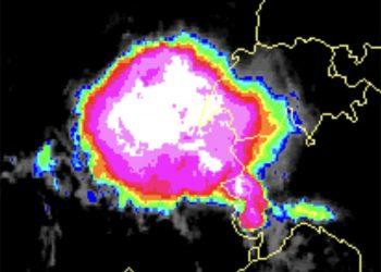 cella temporalesca alpi occidentali 350x250 - Meteo: Italia dalla tempesta di fuoco a 46°C. Al Nord Grandine e Nubifragi. Video