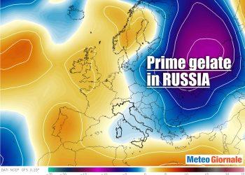 Primo rischio di gelate in Russia.