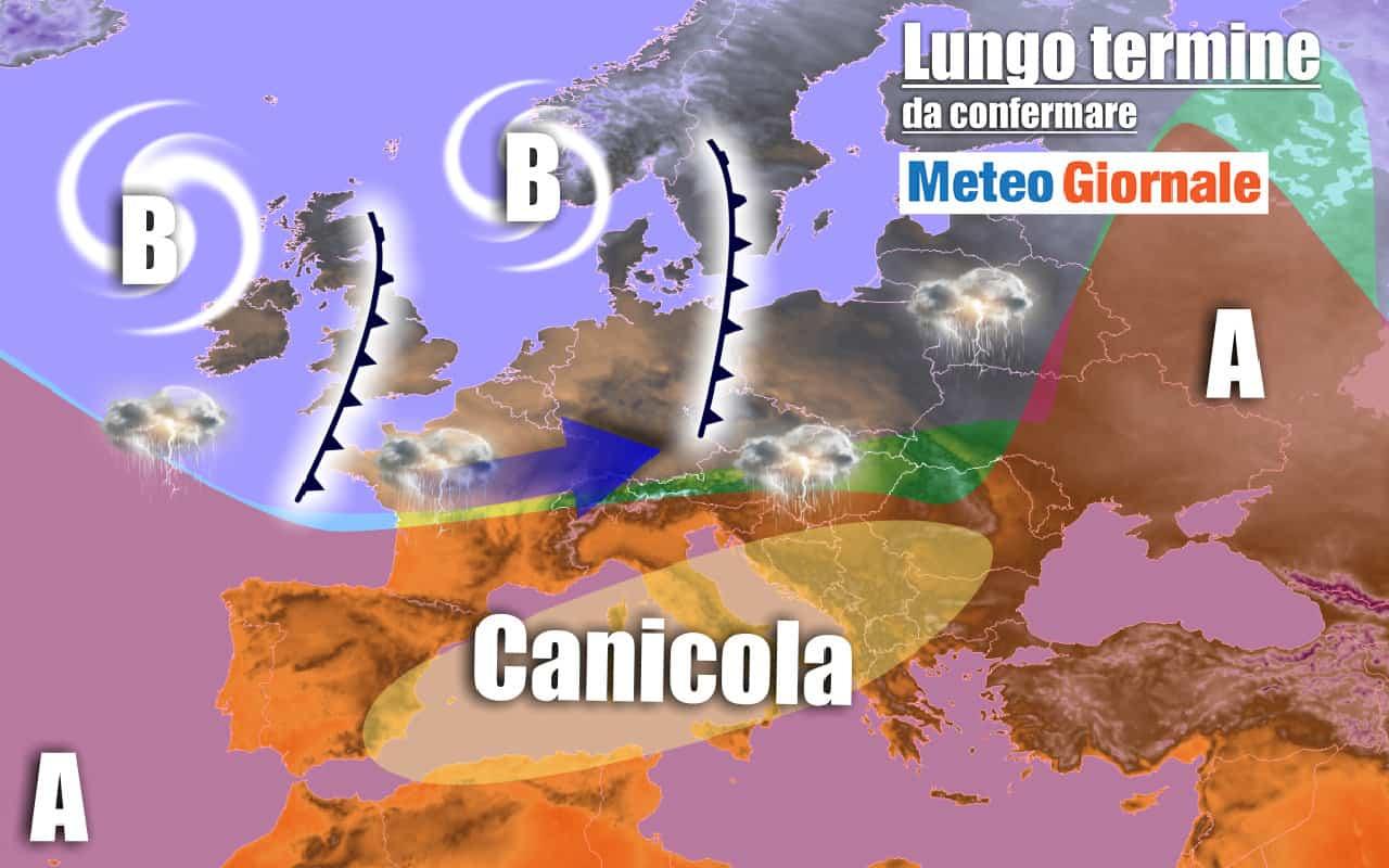 lungo termine 2 - METEO Italia al 19 agosto: ondata di CALDO RECORD