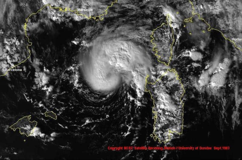 mediterranean mediterraneo uragano hurricane september 1983 medicane tropical storm tlc ciclone 2 - Rischio CICLONI mediterranei: il meteo estremo dell'Autunno
