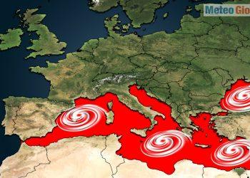 mediterraneo a rischio burrasche e tlc