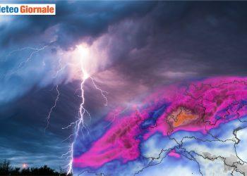meteo avverso con maltempo nord italia