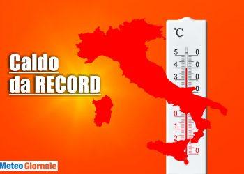 meteo con caldo da record