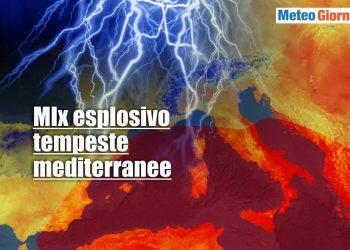 Meteo con mix esplosivo per tempeste mediterranee