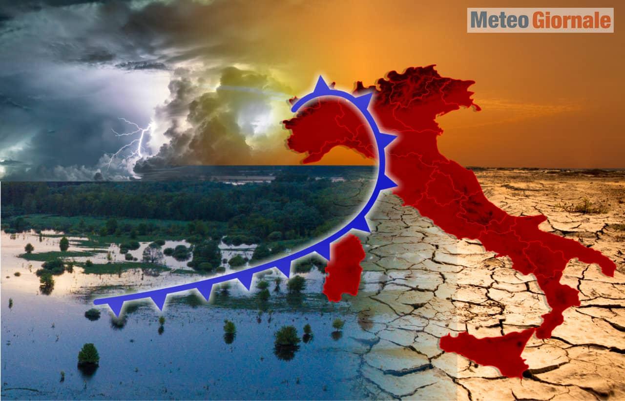meteo di fine estate - Meteo che porta la fine dell'Estate rovente. Rischio alluvioni lampo