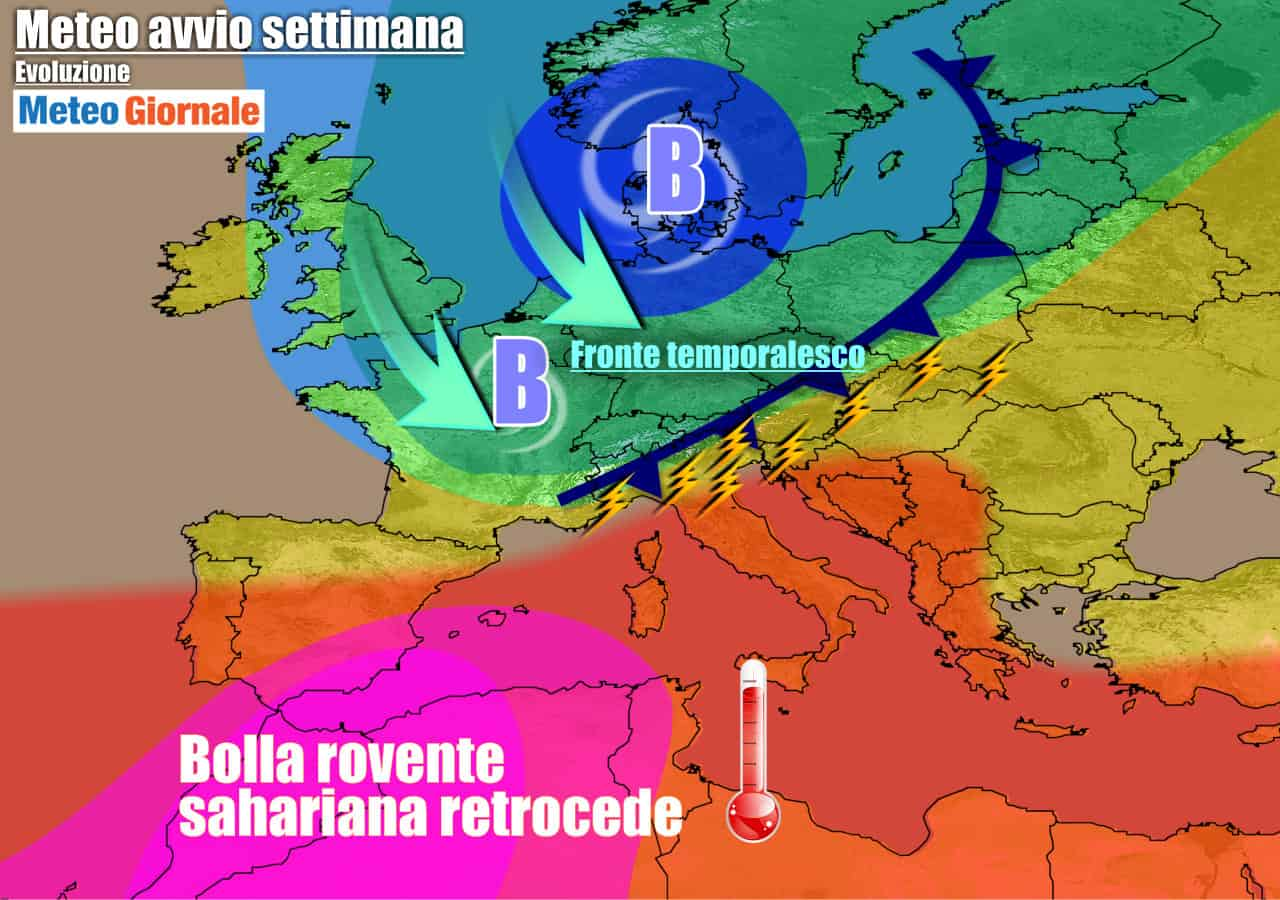 meteogiornale previsioni 7 giorni 12 - METEO 7 Giorni. Dopo FERRAGOSTO arrivano REFRIGERIO e TEMPORALI