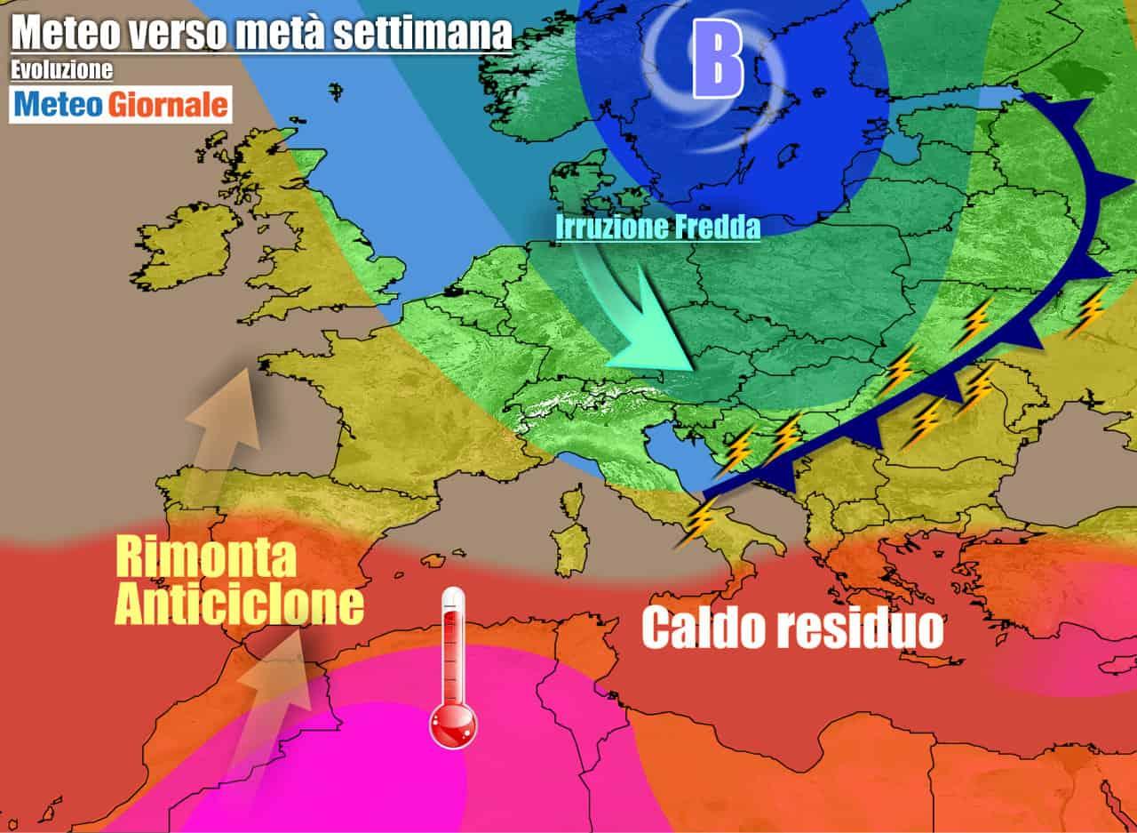 meteogiornale previsioni 7 giorni 14 - METEO 7 Giorni. Subito VIOLENTI TEMPORALI spianeranno la strada al REFRIGERIO