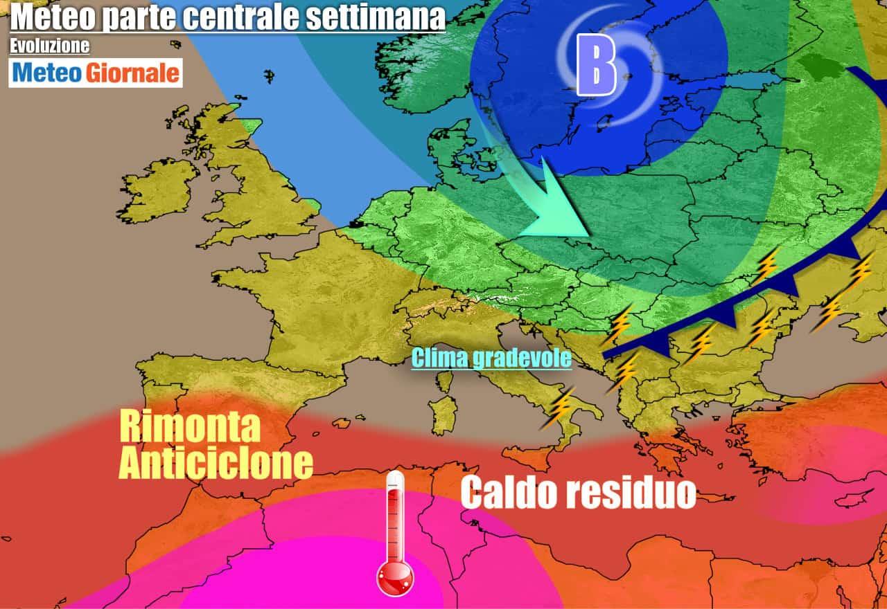 meteogiornale previsioni 7 giorni 15 - METEO 7 Giorni. INDIETRO TUTTA dell'anticiclone africano, ma per poco